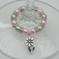 Flower Wine Glass Charms